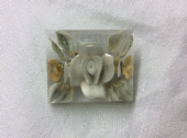 1940's Lucite Brooch - Faded Soft Colours - Unusual Shape